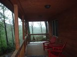 Screened Back Porch with outdoor dining, grill, and mountain views